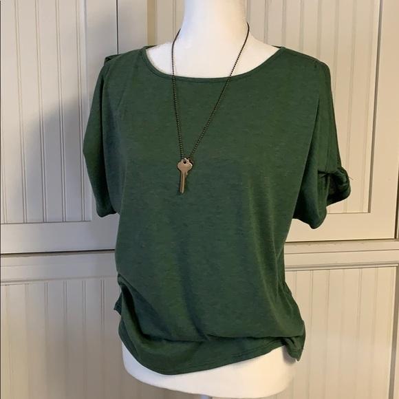 1ac6436c4801fa Colette Romey Tops - Colette Olive green cold shoulder top size medium